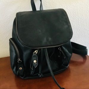 Mossimo Black vegan leather backpack